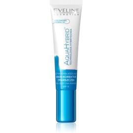 Eveline Cosmetics Aqua Hybrid crema de contorno de ojos para eliminar las ojeras y arrugas SPF 8  15 ml