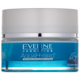 Eveline Cosmetics Aqua Hybrid intensywnie ujędrniający krem na dzień i noc 45+  50 ml