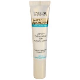 Eveline Cosmetics 24k Gold & Diamonds verjüngende Augencreme Rejuvenating Eye Cream (Breaktrough Anti-Wrinkle Technology) 15 ml