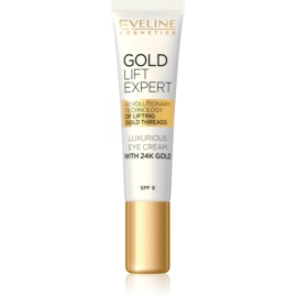 Eveline Cosmetics Gold Lift Expert Luxurious Eye Cream With 24 Carat Gold (SPF 8) 15 ml