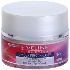 Eveline Cosmetics Laser Precision Tages- und Nachtscreme gegen Falten 50+  50 ml