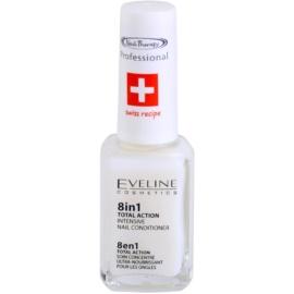 Eveline Cosmetics Nail Therapy balzam za nohte 8 v 1 inovativna različica ne vsebuje formaldehida  12 ml
