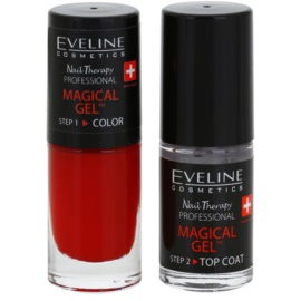 Eveline Cosmetics Nail Therapy Professional vernis à ongles gel sans lampe UV/LED teinte 04  2 x 5 ml
