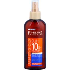 Eveline Cosmetics Sun Care óleo bronzeador em cápsulas  SPF 10   150 ml