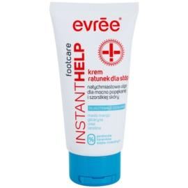 Evrée Instant Help upokojujúci krém na popraskané chodidlá  75 ml