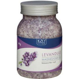 EZO Lavender magnéziová soľ do kúpeľa k relaxácii tela a mysle  650 g