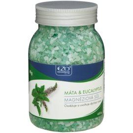 EZO Mint & Eucalyptus magnéziová sůl do koupele k uvolnění dýchacích cest  650 g