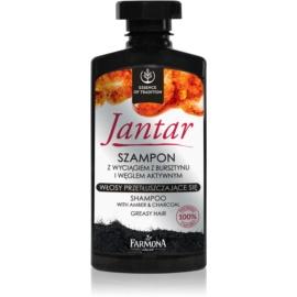 Farmona Jantar șampon cu ingrediente active de cărbune pentru par gras  330 ml