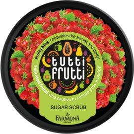 Farmona Tutti Frutti Wild Strawberry piling za telo s sladkorjem  160 g