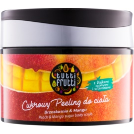 Farmona Tutti Frutti Peach & Mango cukrový telový peeling  300 g