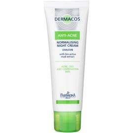 Farmona Dermacos Anti-Acne normalizační noční krém regulující činnost mazových žláz  50 ml