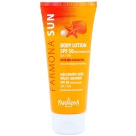 Farmona Sun zaščitni losjon za sončenje z makadamijevim oljem SPF 50  100 ml