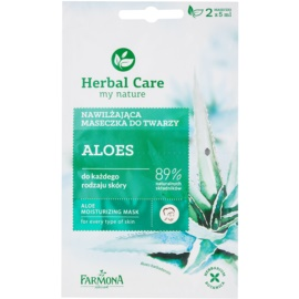 Farmona Herbal Care Aloe mascarilla hidratante para todo tipo de pieles  2 x 5 ml