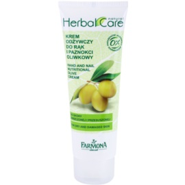 Farmona Herbal Care Olive nährende Crem für Hände und Fingernägel  100 ml