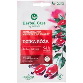 Farmona Herbal Care Wild Rose mascarilla rejuvenecedora para pieles maduras  2 x 5 ml