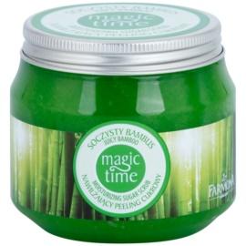 Farmona Magic Time Juicy Bamboo exfoliante corporal con azúcar para hidratar y tensar la piel  300 g