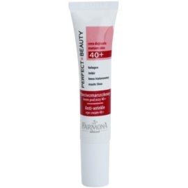 Farmona Perfect Beauty 40+ Augencreme gegen Falten und dunkle Augenringe (Collagen, Hyaluronic Acid, Guarana, Shea Butter) 15 ml