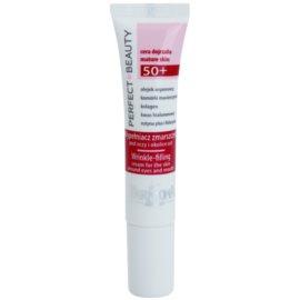 Farmona Perfect Beauty 50+ vyplňující krém na vrásky v okolí očí a rtů (Argan Oil, Plant Stem Cells, Collagen, Hyaluronic Acid, Rutin Plus and Folacin) 15 ml