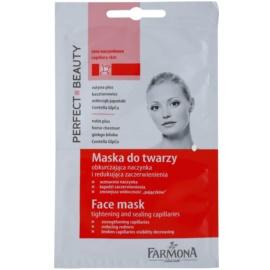 Farmona Perfect Beauty Capillary Skin pleťová maska na rozšířené a popraskané žilky  2 x 5 ml