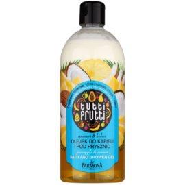 Farmona Tutti Frutti Pineapple & Coconut Gel-Öl für Bad und Dusche  500 ml