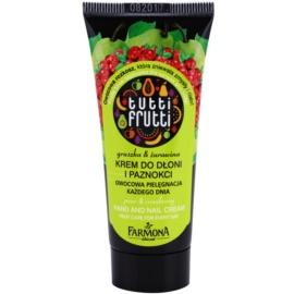 Farmona Tutti Frutti Pear & Cranberry crema para manos y uñas  30 ml