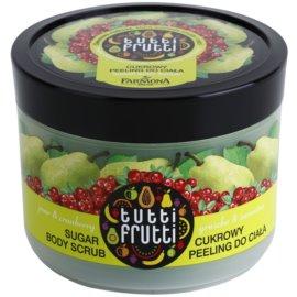 Farmona Tutti Frutti Pear & Cranberry exfoliante a base de azúcar para el cuerpo  300 g