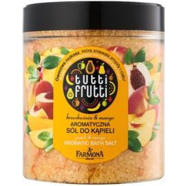 Farmona Tutti Frutti Peach & Mango soľ do kúpeľa  600 g