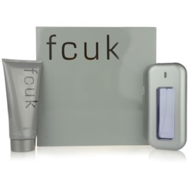 Fcuk Men set cadou I.  Apa de Toaleta 100 ml + Gel de dus 200 ml
