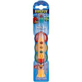 FireFly Angry Birds zubní kartáček pro děti s blikajícím časovačem a přísavkou soft