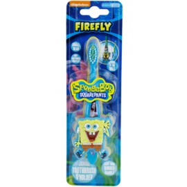FireFly SpongeBob escova de dentes para crianças com suporte soft