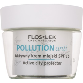 FlosLek Laboratorium Pollution Anti aktywny krem na dzień SPF 15  50 ml