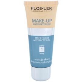 FlosLek Laboratorium Anti Acne podkład matujący podkład matujący antybakteryjny odcień 1 Ivory 30 ml