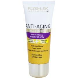FlosLek Laboratorium Anti-Aging Gold & Energy rozjasňující oční krém  30 ml