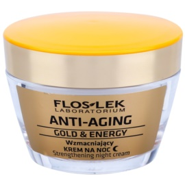 FlosLek Laboratorium Anti-Aging Gold & Energy krepilna nočna krema  50 ml