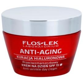 FlosLek Laboratorium Anti-Aging Hyaluronic Therapy feuchtigkeitsspendende Tagescreme gegen Hautalterung LSF 15  50 ml