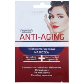 FlosLek Laboratorium Anti-Aging Hyaluronic Therapy Anti-Falten Feuchtigkeitsmaske  2 x 5 ml