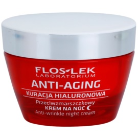 FlosLek Laboratorium Anti-Aging Hyaluronic Therapy нощен хидратиращ крем  с анти-бръчков ефект  50 мл.