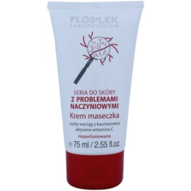 FlosLek Laboratorium Dilated Capillaries stärkende Creme-Maske für Teint mit geweiteten und geplatzten Äderchen  75 ml
