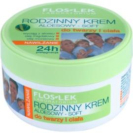 FlosLek Laboratorium Family leichte feuchtigkeitsspendende Creme Für Gesicht und Körper  250 ml