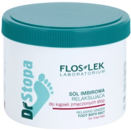 FlosLek Laboratorium Foot Therapy relaxační koupelová sůl na nohy se zázvorem  500 g