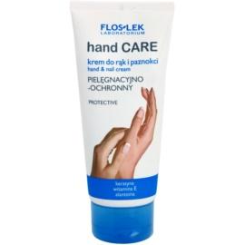 FlosLek Laboratorium Hand Care Protective kéz- és körömápoló krém hidratáló hatással  100 ml