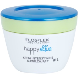 FlosLek Laboratorium Happy per Aqua intensive, hydratisierende Creme mit Matt-Effekt  50 ml