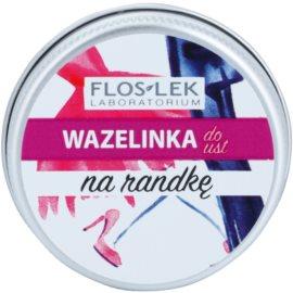 FlosLek Laboratorium Lip Vaseline Date balzam na pery príchuť Raspberry Flavour 15 g