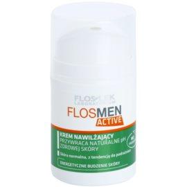 FlosLek Laboratorium FlosMen Active krem nawilżający dla skóry normalnej skłonnej do podrażnień  50 ml