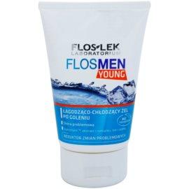 FlosLek Laboratorium FlosMen Young beruhigendes Gel nach der Rasur  125 ml