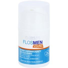 FlosLek Laboratorium FlosMen Young krém proti lesknutí pleti a rozšířeným pórům  50 ml