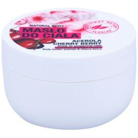 FlosLek Laboratorium Natural Body Acerola & Cherry Berry tělové máslo s regeneračním účinkem  240 ml