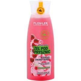 FlosLek Laboratorium Natural Body Acerola & Cherry Berry gel de ducha refrescante  250 ml