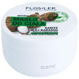 FlosLek Laboratorium Natural Body Karite & Babassu Oil testvaj feszesítő hatással  240 ml