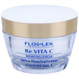 FlosLek Laboratorium Re Vita C 40+ crema de noche revitalizante intensa  50 ml